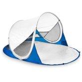 Samorozkládací outdoorový paravan Spokey Stratus bílo-modrý