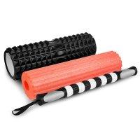 Fitness masážní válec Spokey Mix Roll 3v1 černo/červený
