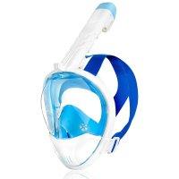 Celoobličejová maska Spokey Karwi BL/WT bílá S/M