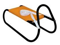Kovové saně oranžovo-černé 62cm