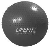 Gymnastický masážní míč Lifefit Massage Ball  75cm tmavě šedý