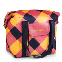 Termo taška Spokey San Remo růžovo-modro-žlutá 52x20x40cm