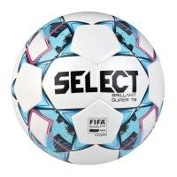 Fotbalový míč Select FB Brillant Super TB bílo-modrá vel.5