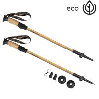 Trekingové hole Spokey Eko Friendly Bastone 3-dílné přírodní bambus