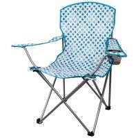 Skládací židle s opěrkami Highlander Moray modro/bílá