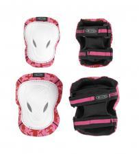Chrániče kolen a loktů Micro - M růžovo/bílé