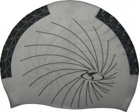 Oboustranná plavecká čepice Dolvor, silikon šedá