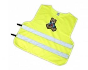 Dětská reflexní vesta - medvídek hnědý S