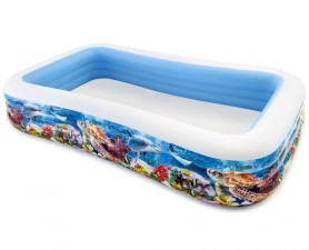 Nafukovací bazén Intex Obdelník potisk 305x183x56cm