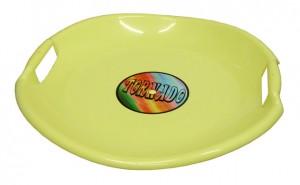 Sáňkovací talíř Tornádo - žlutý 54cm