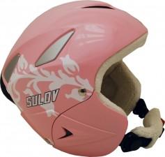 Lyžařská přilba Sulov Ranger - růžová lesk