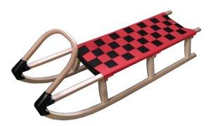 Dřevěné sáně Acra 125cm červené