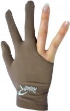 Kulečníková rukavice Rebell hnědá - universal