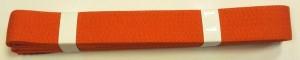Pásek ke kimonu Judo 200 cm oranžová