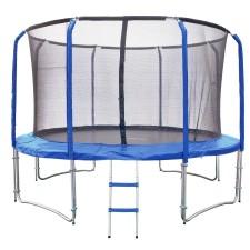 Trampolína Lux Set 366 cm + síť a žebřík - modrá