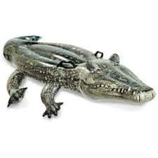 Nafukovací aligátor do bazénu Intex 57551 zelený 170 x 86 cm