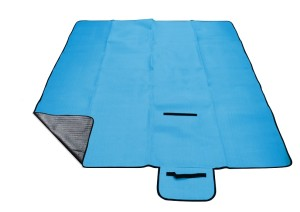 Pikniková deka CALTER GRADY modrá 200x150cm