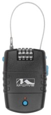 Zámek lankový s alarmem M-Wave kódový 2 x 600 mm