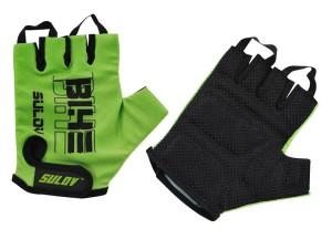 Cyklistické rukavice Sulov Senior - zelená
