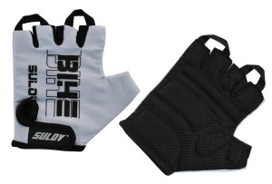Cyklistické rukavice Sulov Senior - šedá