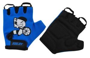 Cyklistické rukavice Sulov Junior - modrá