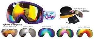Sjezdové brýle Sulov Hornet dvojsklo fialové