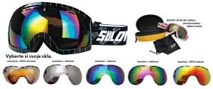 Sjezdové brýle Sulov Hornet dvojsklo černé
