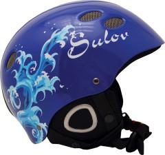 Lyžařská přilba Sulov Tropy modrá lesk-vlna