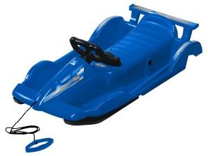 Bob plastový AlpenRace s volantem, modrý