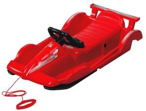 Bob plastový AlpenRace s volantem, červený