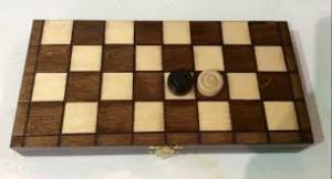 Dřevěná hra dáma