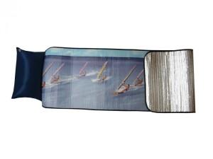 Plážové Alu lehátko s nafukovacím polštářkem, Windsurf