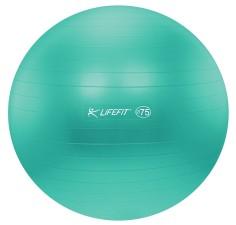 Gymnastický míč Lifefit Anti-Burst 75 cm tyrkysový