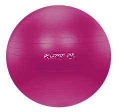 Gymnastický míč Lifefit Anti-Burst 75 cm bordó