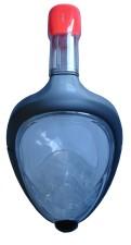 Celoobličejová potápěčská maska se šnorchlem v barvě šedé