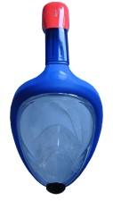 Celoobličejová potápěčská maska se šnorchlem v barvě modré