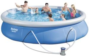 Bazén samostavěcí Bestway s filtrací 457x84cm