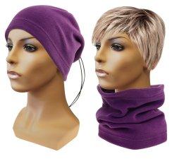 Multifunkční šátek 2v1 Fleece fialový