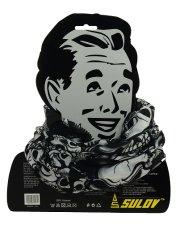Sportovní šátek s flísem Sulov černo-bílý