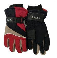Dětské zimní rukavice Bella Accessori 9009-3 červená