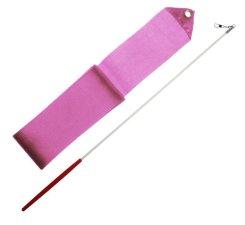 Gymnastická tyčka se stuhou 6m světle růžová