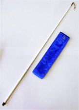 Gymnastická tyčka se stuhou Official Fantasia 6m modrá