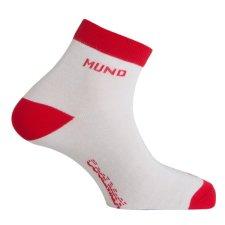 Ponožky Mund Cycling/Running bílo/červené